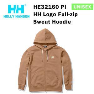 21fw ヘリーハンセン ユニセックス HHロゴフルジップスウェットフーディー HH Logo Full-zip  Sweat Hoodie HE32160  カラー PI HELLY HANSEN 正規品|alajin
