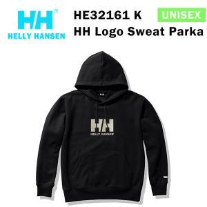 21fw ヘリーハンセン ユニセックス HHロゴスウェットパーカ HH Logo Sweat Parka HE32161  カラー K HELLY HANSEN 正規品|alajin