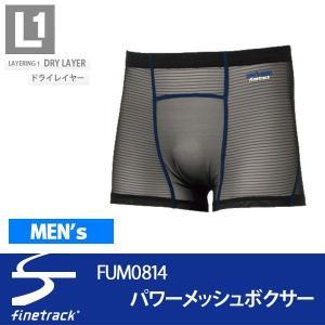 ファイントラック finetrack 機能アンダーウェア フラッドラッシュパワーメッシュ ボクサー メンズ FUM0814-BK|alajin