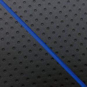 ジョグ(5KN等)2ストエンボス(黒)/青P 張替 シートカバー日本製|alba-mcps