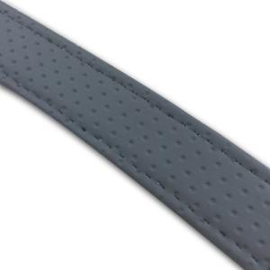 汎用レザーベルト(タンデムベルト等)/カラー:エンボスグレー/ステッチ:透明/長さ:46cm/幅:2.5cm|alba-mcps