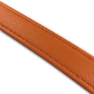 汎用レザーベルト(タンデムベルト等)/カラー:オレンジ/ステッチ:透明/長さ:46cm/幅:2.5cm|alba-mcps