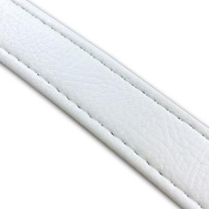 汎用レザーベルト(タンデムベルト等)/カラー:白/ステッチ:透明/長さ:46cm/幅:2.5cm|alba-mcps
