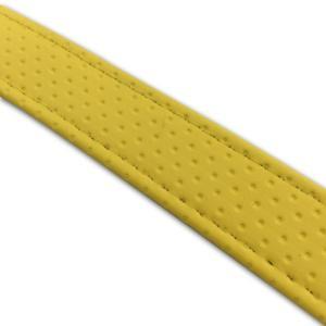 汎用レザーベルト(タンデムベルト等)/カラー:エンボスイエロー/ステッチ:透明/長さ:46cm/幅:2.5cm|alba-mcps