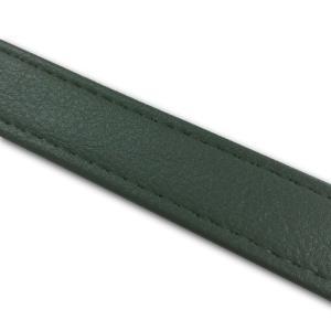 汎用レザーベルト(タンデムベルト等)/カラー:ダークグリーン/ステッチ:透明/長さ:46cm/幅:2.5cm|alba-mcps
