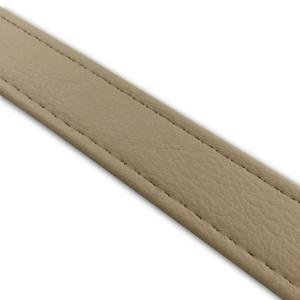 汎用レザーベルト(タンデムベルト等)/カラー:ベージュ/ステッチ:透明/長さ:46cm/幅:2.5cm|alba-mcps