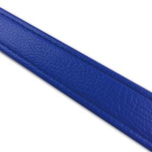 汎用レザーベルト(タンデムベルト等)/カラー:青/ステッチ:透明/長さ:46cm/幅:2.5cm|alba-mcps