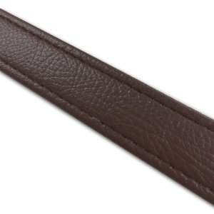 汎用レザーベルト(タンデムベルト等)/カラー:茶褐色/ステッチ:透明/長さ:46cm/幅:2.5cm|alba-mcps