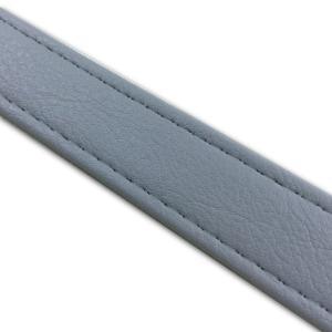 汎用レザーベルト(タンデムベルト等)/カラー:グレー/ステッチ:透明/長さ:46cm/幅:2.5cm|alba-mcps