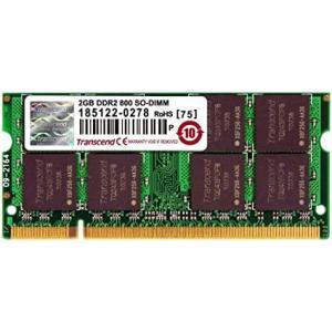 Transcend JetRam ノートPC用増設メモリ PC2-6400(DDR2-800) 2GB 永久保証 JM800QSU-2G[送料無料]