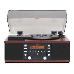 TEAC ターンテーブル/カセットプレーヤー付CDレコーダー LP-R550USB-WA(ウォルナット)[送料無料] albadirect