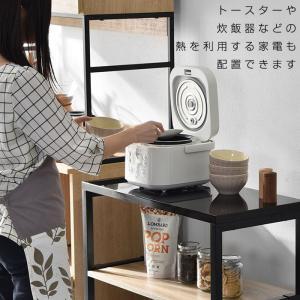 キッチンワゴン 耐熱 キャスター付き カウンター ラック レンジ台 おしゃれ|alberoshop|05