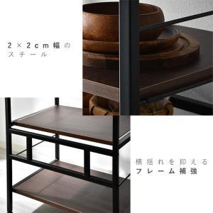 レンジ台 キッチンラック 食器棚 オープンラック おしゃれ 大型レンジ対応 収納|alberoshop|11