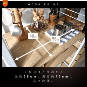 レンジ台 キッチンラック 食器棚 オープンラック おしゃれ 大型レンジ対応 収納|alberoshop|04