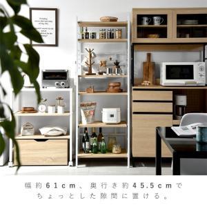 レンジ台 キッチンラック 食器棚 オープンラック おしゃれ 大型レンジ対応 収納|alberoshop|08