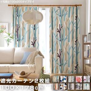 遮光カーテン 2枚組 幅100cm 高さ178cm カーテン 安い|alberoshop