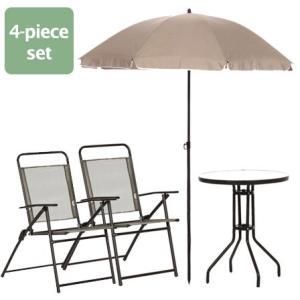 パラソル チェア2脚 テーブル ガーデンテーブルセット4点セット 安い|alberoshop