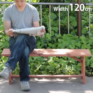 パークベンチ 天然木製 ベンチ 120cm ガーデン ガーデニング|alberoshop