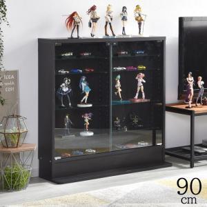 高さ90cm 5段タイプ スリム 薄型 ガラス棚 可動棚 ガラス コレクションケース|alberoshop