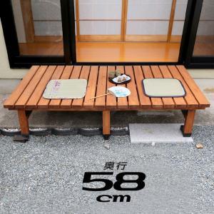 天然木 180×58cm ウッドデッキ 木製デッキ 縁台 縁側 安い|alberoshop