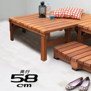 天然木 90×58cm ウッドデッキ 木製デッキ 縁台 縁側 安い|alberoshop