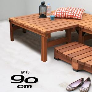 天然木 90×90cm ウッドデッキ 木製デッキ 縁台 縁側 安い|alberoshop