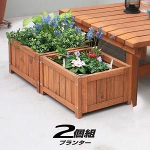 天然木 90×90cm 植木鉢 プランター 木製デッキ 縁台 安い|alberoshop