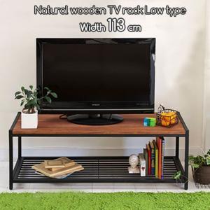 天然木 幅113cm 木製テレビ台 ローボード TV台 ロータイプ 安い|alberoshop