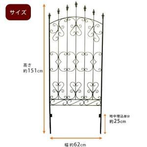 ガーデンフェンス アイアン 高さ220cm 4枚セット トレリス 安い alberoshop 06