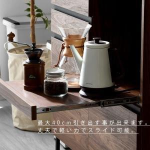 食器棚 おしゃれ 幅90cm レンジ台 キッチン収納 食器棚|alberoshop|13