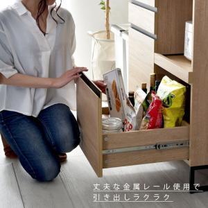 食器棚 おしゃれ 幅90cm レンジ台 キッチン収納 食器棚|alberoshop|16