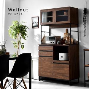 食器棚 おしゃれ 幅90cm レンジ台 キッチン収納 食器棚|alberoshop|18