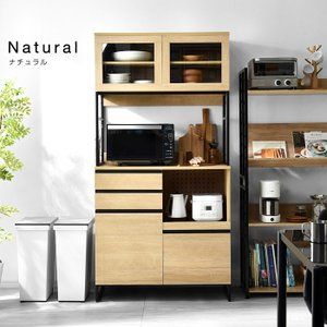 食器棚 おしゃれ 幅90cm レンジ台 キッチン収納 食器棚|alberoshop|19