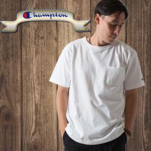 チャンピオン Champion  半袖Tシャツ T1011(ティーテンイレブン) ポケット付き US...