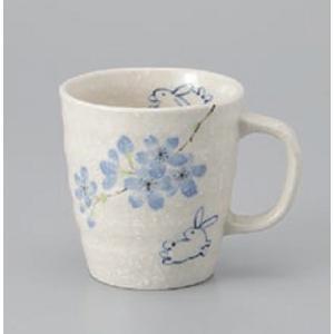 マグカップ 桜うさぎブルー ラッピング無料 のし無料