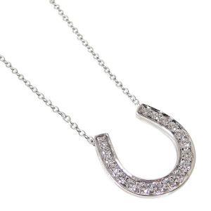 ティファニー TIFFANY&Co. ネックレス ホースシュー ペンダント プラチナ ダイヤモンド 16926914