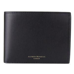 ダンヒル 二つ折り財布 メンズ DUKE デューク 箔押しロゴ ブラック 18F2320DK001|alevelshop