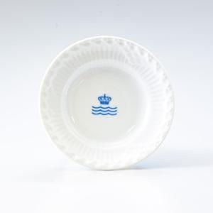 純正箱付 ロイヤルコペンハーゲン ミニプレート ホワイトフルーテッド ハーフレース RCロゴ 小皿 11cm 2215612 イタリア限定 日本未発売|alevelshop