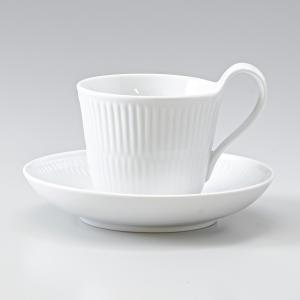 ロイヤルコペンハーゲン ホワイトフルーテッド ティーカップ&...