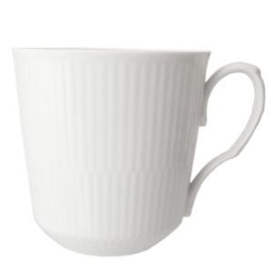 ロイヤルコペンハーゲン ホワイトフルーテッド マグカップ カフェラテ カフェオレ 460ml 240...