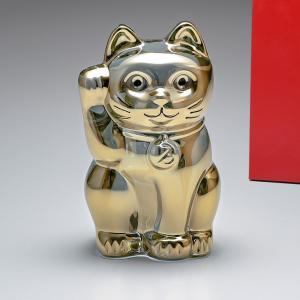 バカラ フィギュア Baccarat オーナメント 招き猫 ゴールド 2612997
