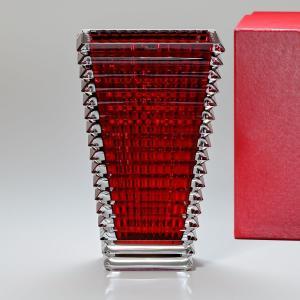 バカラ 花瓶 ベース アイ EYE スクエア レッド L 30cm 2802302|alevelshop