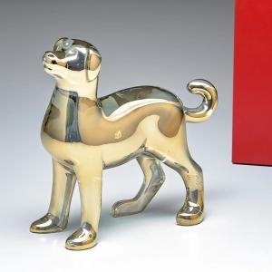 バカラ Baccarat クリスタル フィギュア ゾディアック 2018年 DOG ドッグ ゴールド 干支 戌 犬 2811251|alevelshop