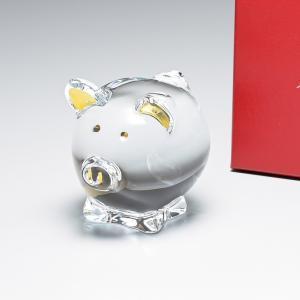 バカラ クリスタルフィギュア ゾディアック ZODIAQUE コション ロージー ピッグ 豚 置物 オブジェ 2812391|alevelshop
