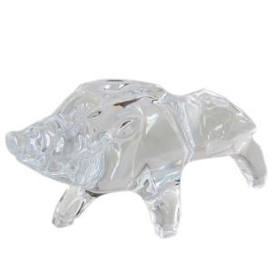 バカラ クリスタルフィギュア ゾディアック ZODIAQUE 干支 十二支 亥 猪 イノシシ 置物 オブジェ 2812399|alevelshop