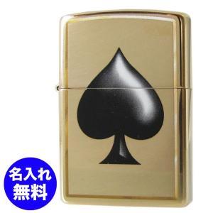 メール便可164円 ZIPPO ジッポー ライター SPADE スペード トランプ ゴールド 29094|alevelshop