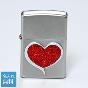 メール便可164円 ZIPPO ジッポー ライター GLITTER HEART グリッターハート シルバー 29410|alevelshop