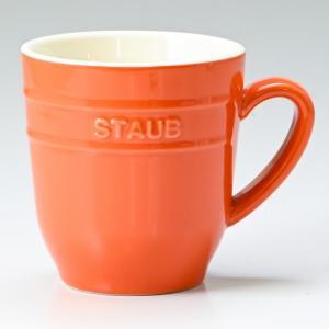 ストウブ マグカップ セラミック 350ml オレンジ 40508 570 0|alevelshop