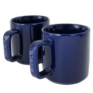 ストウブ マグカップ ペア セラミック 7cm 2個セット 200ml グランブルー 40511 115 0|alevelshop