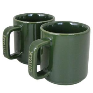 ストウブ マグカップ ペア セラミック 7cm 2個セット 200ml バジルグリーン 40511 115 0|alevelshop
